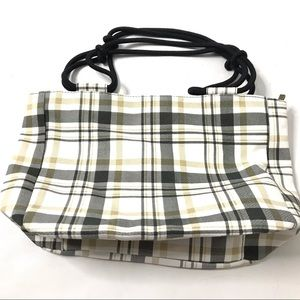 Farmhouse Is My Style Canvas Plaid Ivory Gray Tot